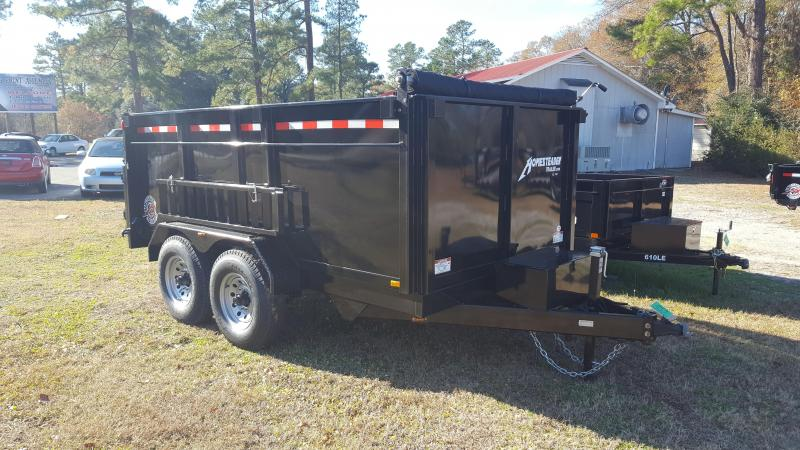2018 Homesteader 7x12HX Dump Trailer with High sides and Tarp