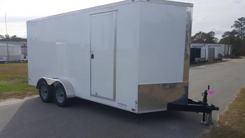 2019 Diamond Cargo 7x16 7ft Tall Enclosed Cargo Trailer