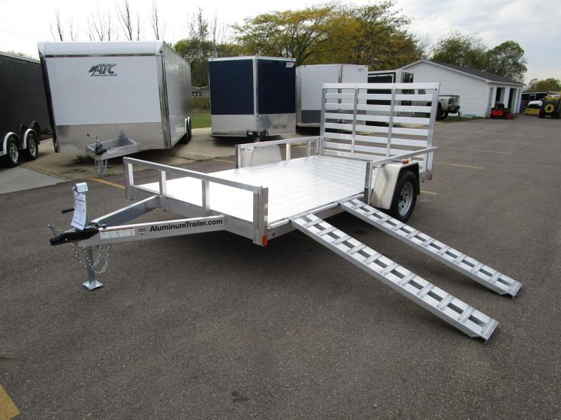 2018 ATC ALL ALUMINUM 7x12 UTILITY TRAILER w/ SIDE RAMPS