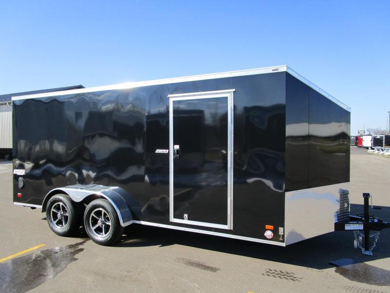 2017 Bravo 7x16 Scout Enclosed Motorcycle Trailer
