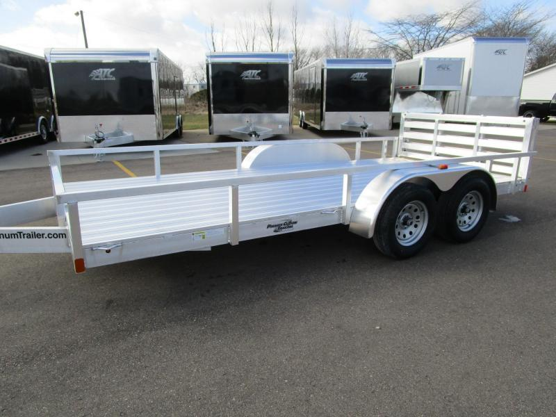 2017 ATC All Aluminum 7x16 Tandem Axle Utility Trailer with Ramp Gate