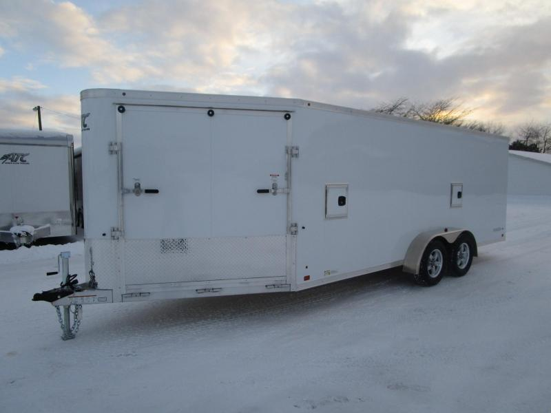 2018 RAVEN 24' ENCLOSED SNOWMOBILE TRAILER w/SNOW PACKAGE