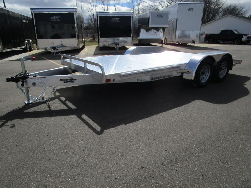 2018 Atc All Aluminum 16 Open Car Hauler Custom Enclosed Cargo