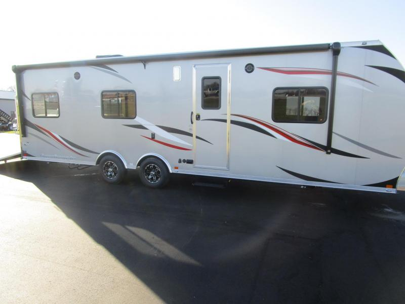 2017 ATC ALL ALUMINUM 8.5x28 TOY HAULER w/FRONT BEDROOM