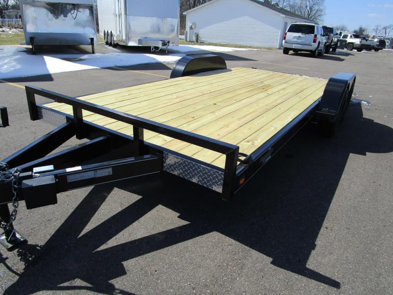2018 Nation 18 Econo Open Car Hauler W Wood Deck Custom