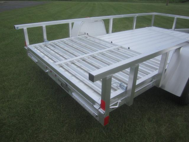 2018 atc all aluminum 6x12 utility trailer w ramp gate for 6x12 wood floor trailer