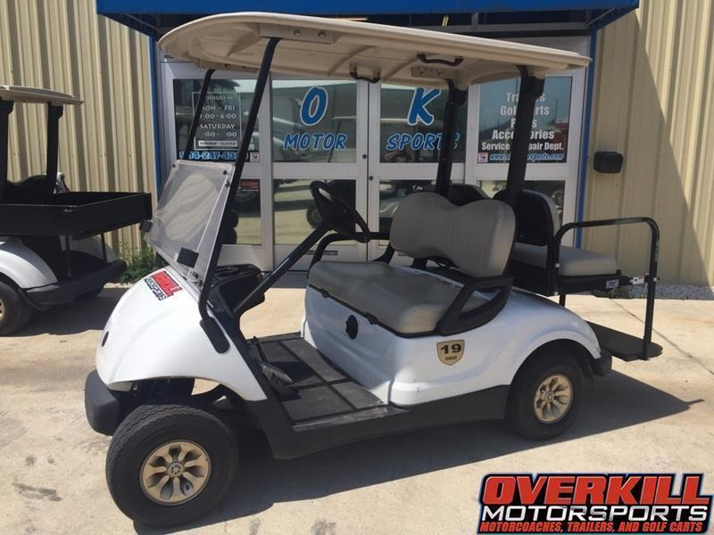 2013 Yamaha Drive Electric Golf Cart 4-Passenger White