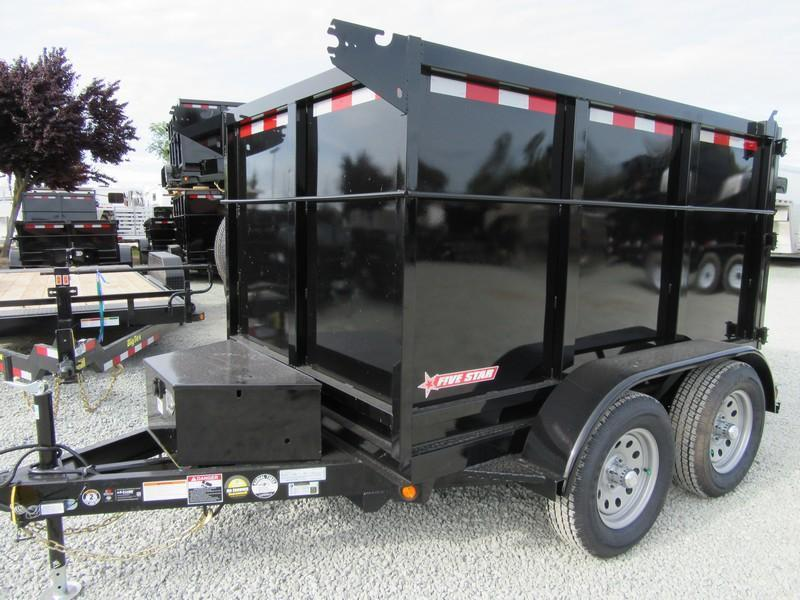 New 2017 Five Star DT290 5x8 Dump Trailer 7K 4' sides Vin32098