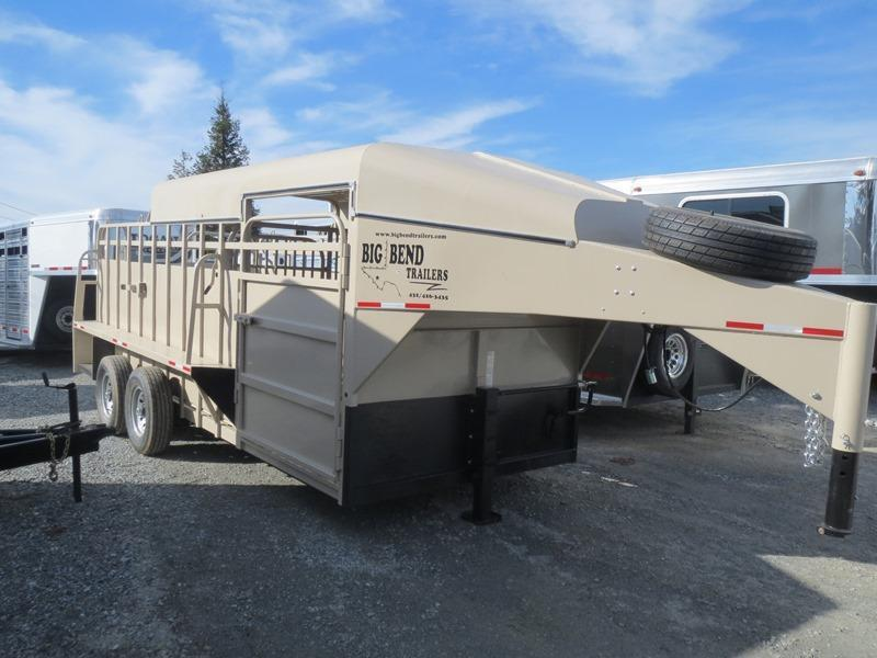 2016 Big Bend 18' Half Top Gooseneck Stock Trailer Vin: 33425