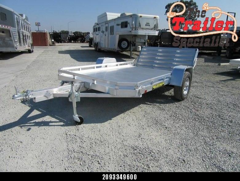 "New 2018 Aluma 7710HBT 77""x10' Aluminum Utility Trailer Vin65853"