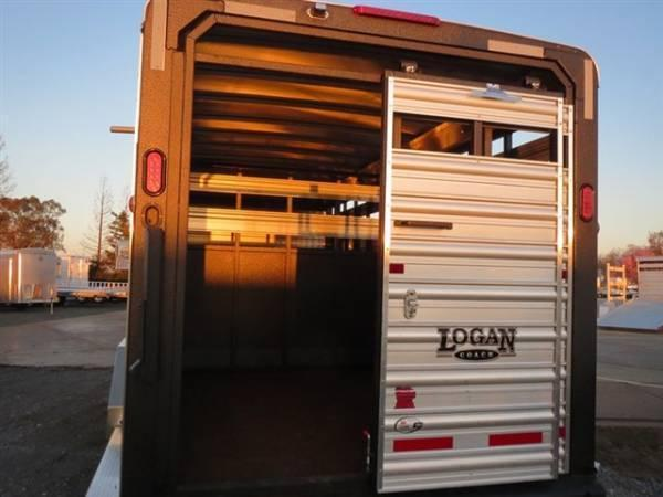 2015 Logan Coach Stockman 24' Livestock Trailer VIN 72161