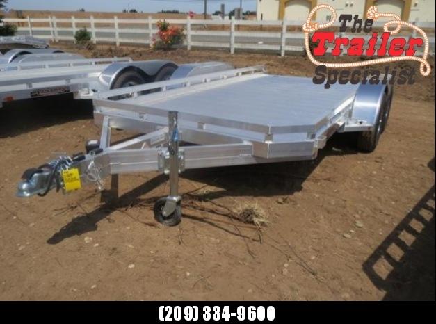 "New 2018 Aluma 7814R 78""x14' aluminum utility trailer Vin 70744"