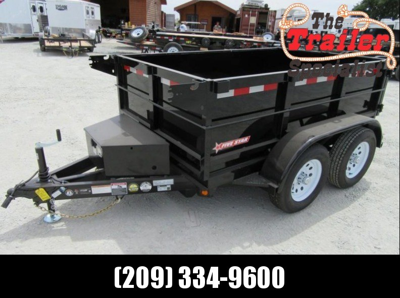New 2018 Five Star DT291 10K 5x8 2' sides Dump Trailer Vin:32250