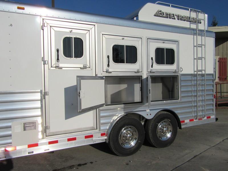 New 2018 Elite Mustang 3H LQ Horse Trailer Vin 17533