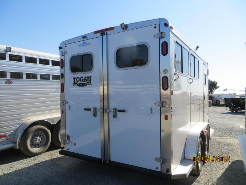 2016 Logan Coach Edge Horse Trailer 2H BP VIN:04671