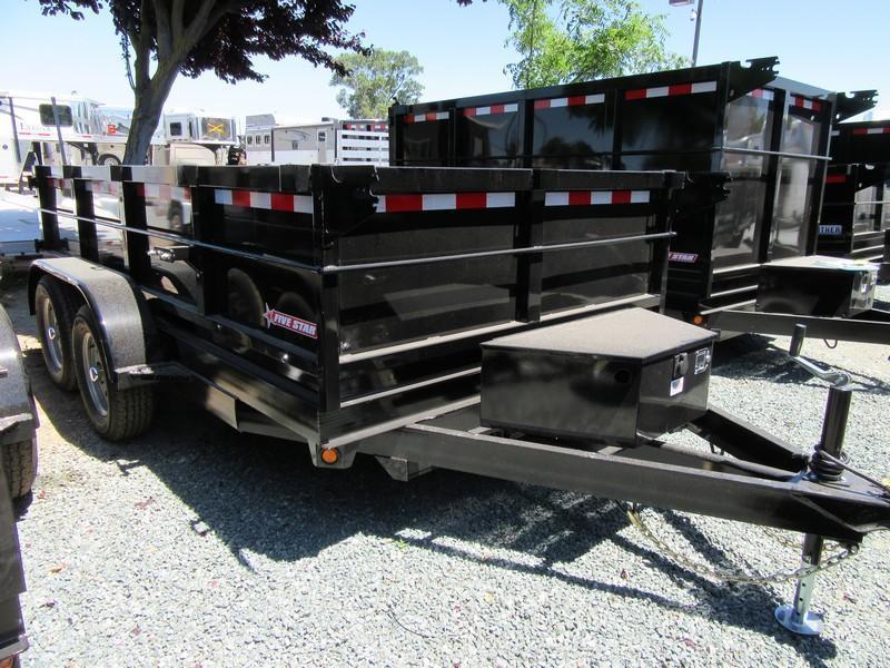 New 2018 Five Star DT212 D7 6x12 Dump Trailer Vin:32322