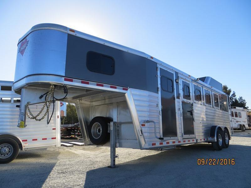 New 2017 Hart Tradition Horse Trailer 4H Smart Storage VIN:51064