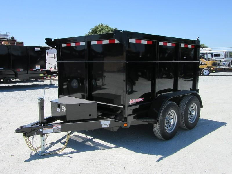 New 2018 Five Star DT294 D10 6x8 10K 4' sides Dump Trailer VIN32479