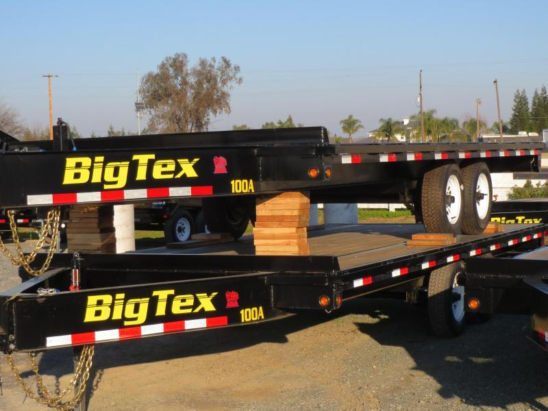 2017 Big Tex 10oa-18 flatbed trailer