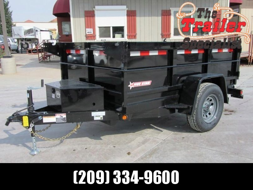 New 2018 Five Star DT002 D5 5x8 5K Dump Trailer Vin32262
