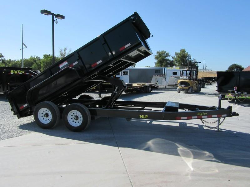 New 2017 Big Tex 14LP-14 7x14 14K Low profile Dump Trailer Vin44350