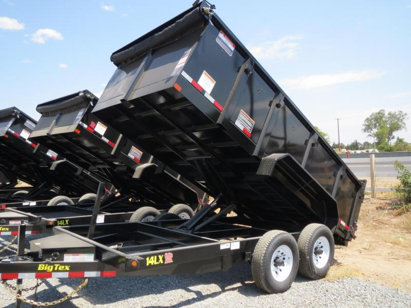New 2017 Big Tex 14LX-14P3 7x14 3' Sides 14K Dump Trailer VIN:73539