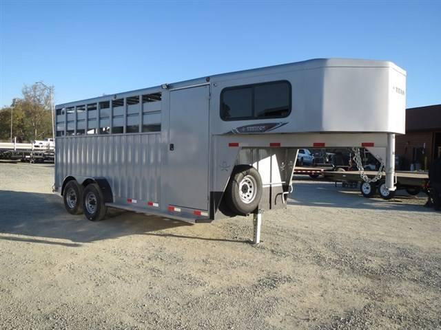 2016 Titan 18' Rancher GN w/ 4' Tack Room Stock Combo Trailer VIN 74118