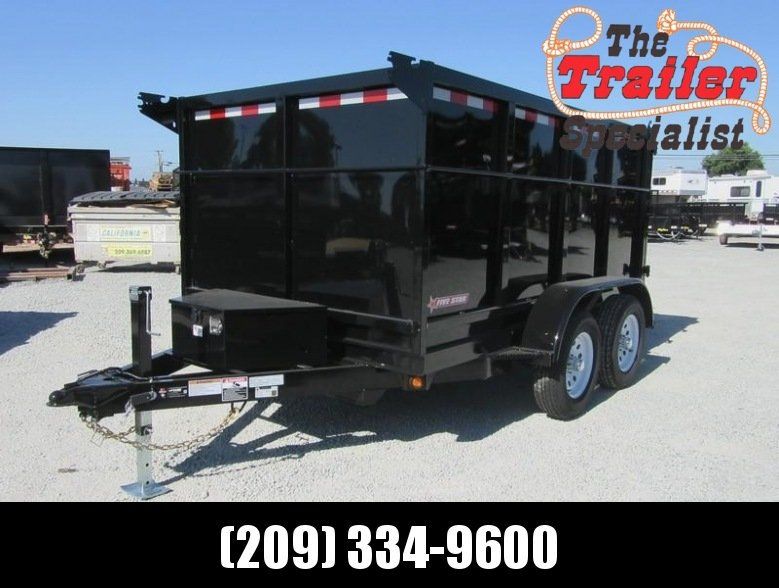 New 2018 Five Star DT257 6x10 7K GVW 4' Sides Dump Trailer Vin32302