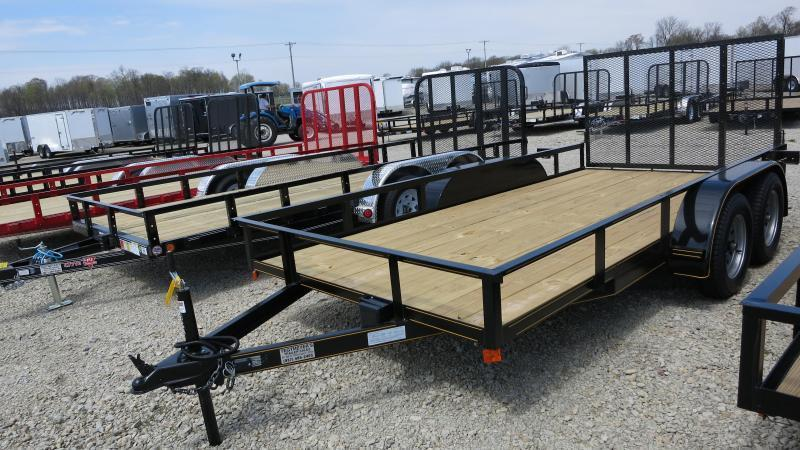 14' Utility Trailers w/ Rear Gate - Brake - Treated Floor