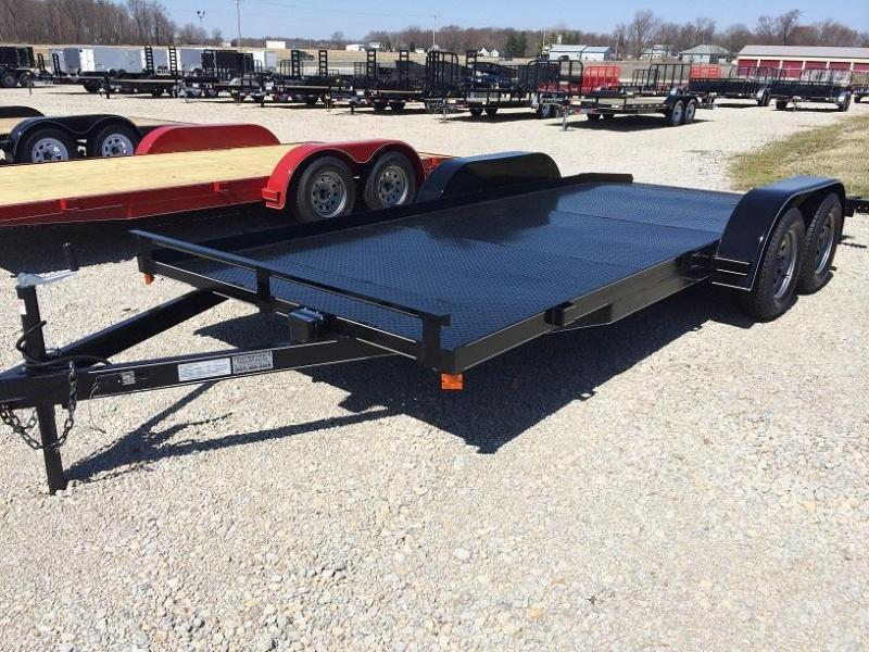 P&T Trailers 20' Steel Floor Car Hauler w/ ramps