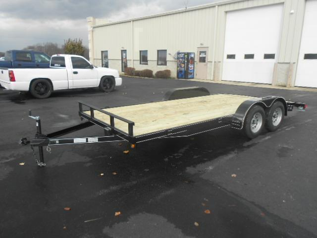 20' Car Trailers Wood Floor  w/ ramps - LED - Brake