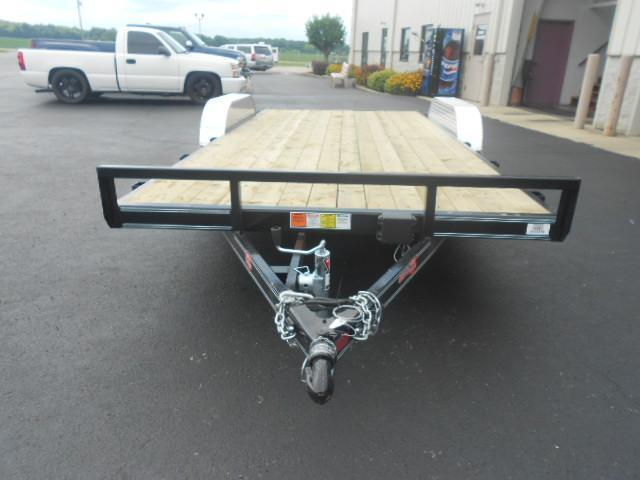 PJ Trailers 18' Car Trailer w/ Ramps - 7000 GVW - Dove Tail - Treated Wood - Electric Brake