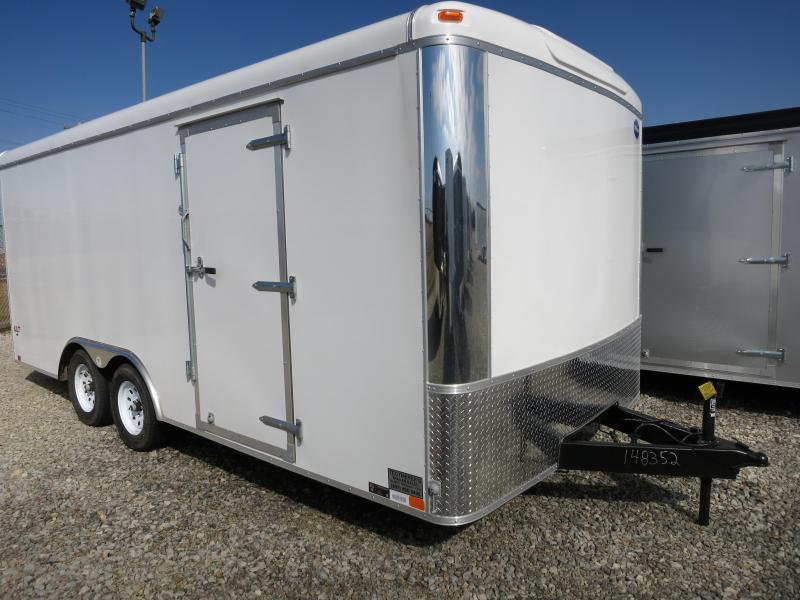 United 8.5 x 18 ULT Tandem Axle Enclosed Trailer w/ Ramp Door - Screwless Sides - Polished Corners - LED Lights