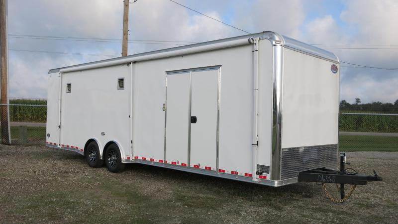 United 8.5 x 30 Enclosed Trailer w/ Ramp Door - LOADED RACE CAR TRAILER!