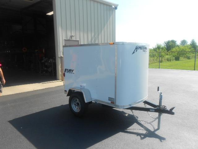 Homesteader 4x6 Single Axle Enclosed w/ Single Rear Door