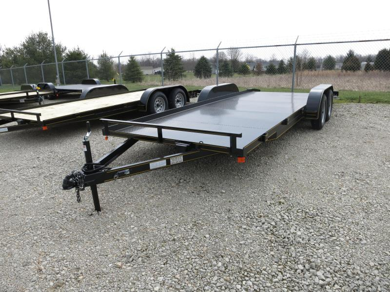20' Steel Floor Car Hauler w/ ramps - dove