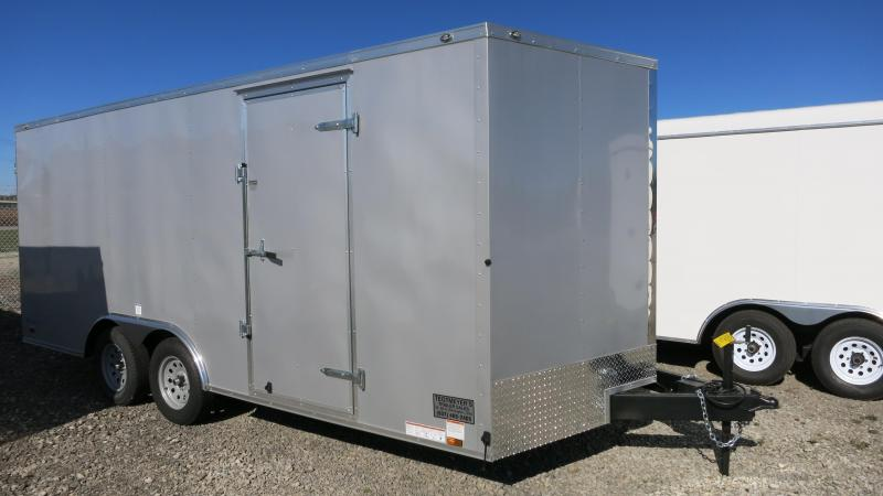 Continental Cargo 8.5X18 Tandem Axle Enclosed Trailer W/ Ramp Door   Roof  Vent