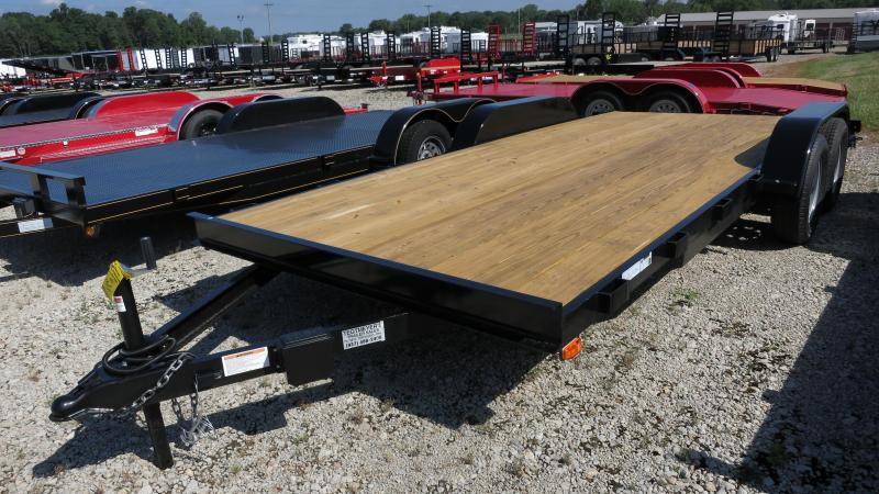 American Manufacturing 18' Car Trailers Wood Floor w/ ramps - Brake