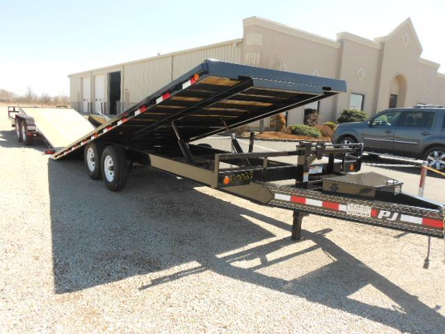PJ Trailer 22' Tandem Axle Flatbed Tilt Trailer