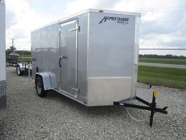 Homesteader 6x12 SA Enclosed Trailer with Ramp Door - Side Wall Vents - D Rings