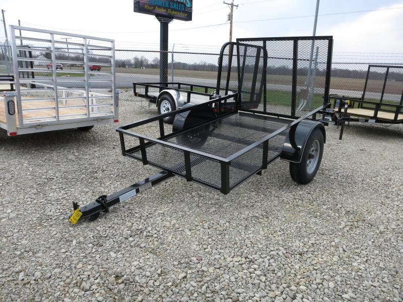 P&T Trailers 5x8 Single Axle Utility w/ Rear Gate
