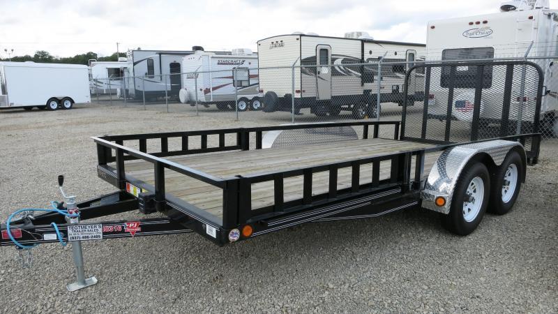 Used PJ Trailer 16' Utility Trailer w/ Gate - Side ATV Ramps