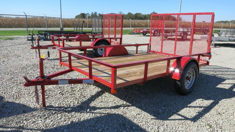 P&T Trailers 6x10 Single Axle Utility w/ Rear Gate
