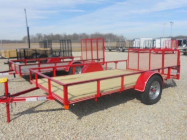 6x12 Single Axle Utility Trailers w/ Rear Gate- 2