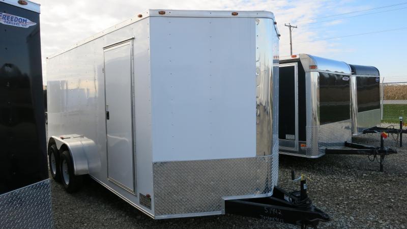 Freedom Trailers 7x16 Enclosed Trailer w/ Ramp Door - RV Door