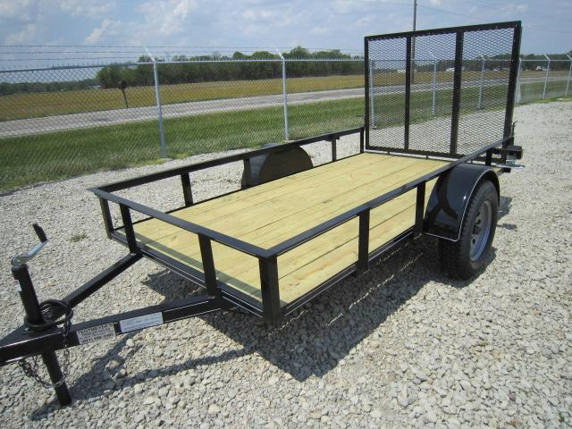 P&T Trailers 6x8 Utility Trailers Single Axle w/ Rear Gate