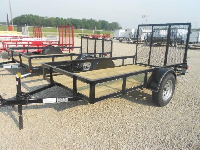 5x10 Utility Trailer Single Axle w/ Rear Gate - 3500 GVW