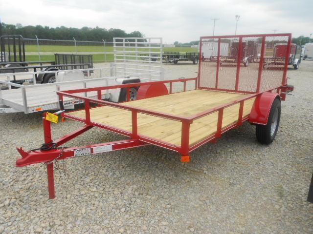 P&T Trailers 6x12 Single Axle Utility Trailer w/ Rear Gate- 2