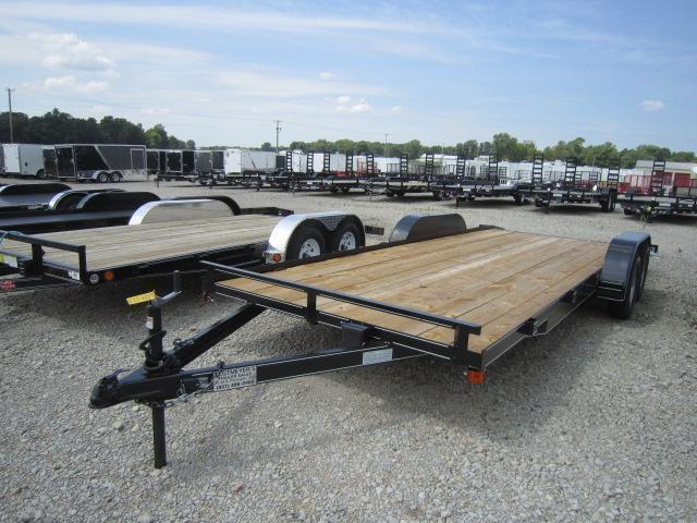 20' Wood Floor Car Trailers w/ ramps - 7000 GVW - BRAKE