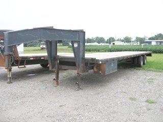 Used 1993 Special 35 Gn Straight Deck Gooseneck Trailer Hinshaw